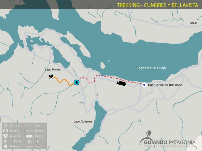 In Cerro Bella Vista, Río Negro, Argentina you can Trekking Cumbres y Cerro Bellavista with LATITUR