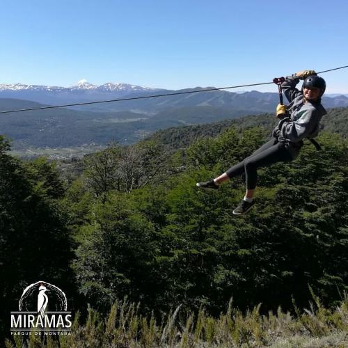 In MIRAMAS - Parque de Montaña, MIRAMAS, San Martin de los Andes, Neuquén, Argentina you can Canopy Miramas San Martin de los Andes with LATITUR