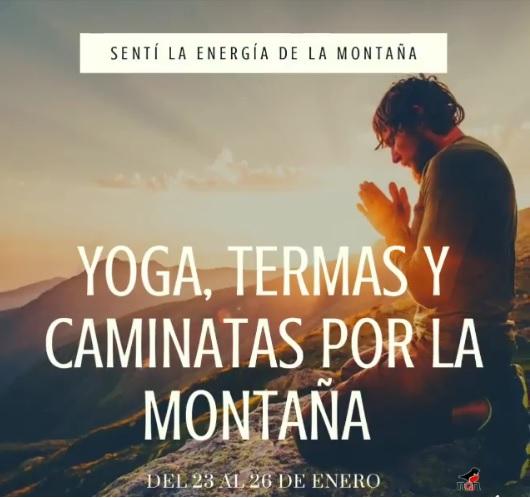 In Copahue, Neuquén, Argentina you can Yoga, Termas, Relax y Caminatas por la Montaña with LATITUR