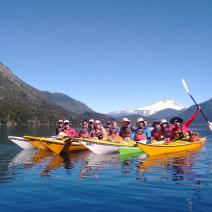 With LATITUR on Lago Moreno, Río Negro, Argentina you can make Kayak de Travesía + Bicicleta Mountain Bike