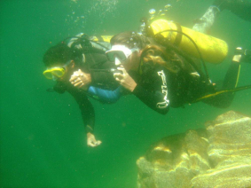 With LATITUR on Chubut you can make Buceo en Lago Epuyen