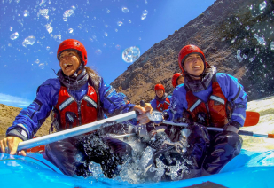 With LATITUR on El Chalten you can make Rafting experience desde El Chalten por la mañana