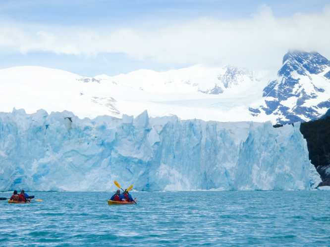 In Glaciar Perito Moreno, Santa Cruz, Argentina you can Perito Moreno Kayak Experience - Full Day with LATITUR