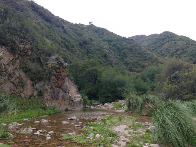 In Salto Escondido, San Luis, Argentina you can Trekking al  Salto Escondido - Fluorita with LATITUR