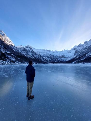 In Laguna Esmeralda, Tierra del Fuego, Argentina you can Trekking invernal Laguna Esmeralda with LATITUR