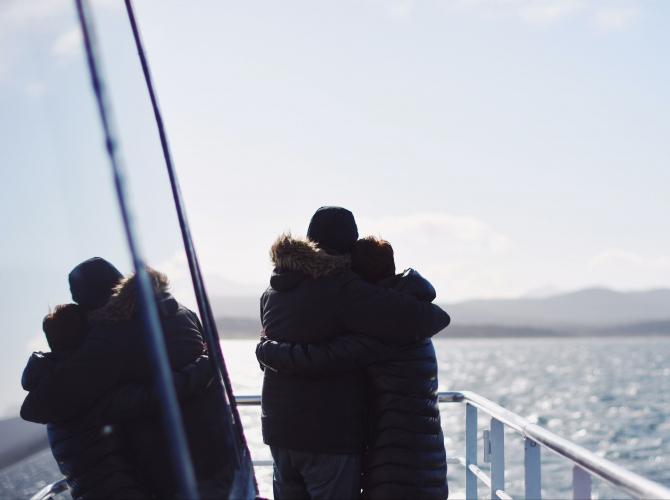 In Ushuaia, Tierra del Fuego, Argentina you can Navegación por el Canal Beagle en Catamarán with LATITUR