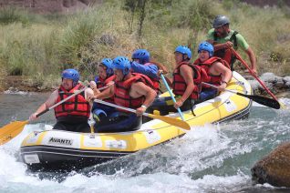 With LATITUR on Blanco Encalada, Mendoza, Argentina you can make Rafting Nivel Inicial - Blanco Encalada
