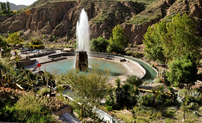 In Potrerillos, Mendoza, Argentina you can Terma de Cacheuta + Rafting Potrerillos + Tirolesa with LATITUR