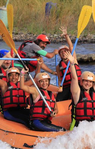 In Cacheuta, Mendoza, Argentina you can Rafting Cacheuta + Cabalgata 1 hora with LATITUR