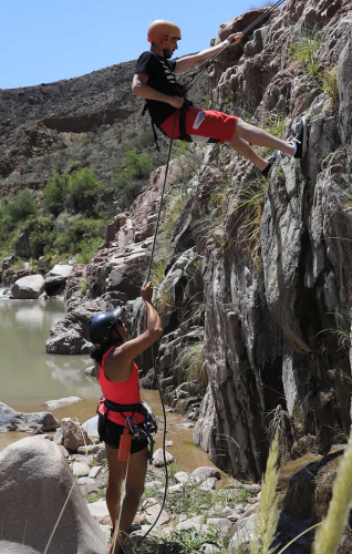In Cacheuta, Mendoza, Argentina you can MULTIACTIVIDAD: trekking, tirolesa, rapel y más with LATITUR