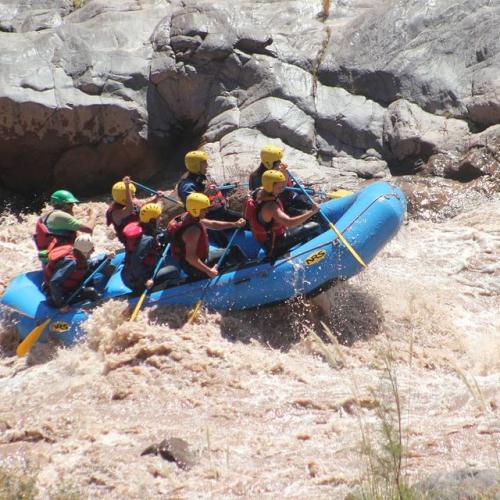 In Potrerillos, Mendoza, Argentina you can Rafting Rio Mendoza Alto en Potrerillos Full Day with LATITUR