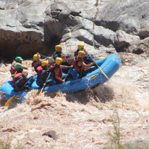 With LATITUR on Potrerillos, Mendoza, Argentina you can make Rafting Rio Mendoza Alto en Potrerillos Full Day