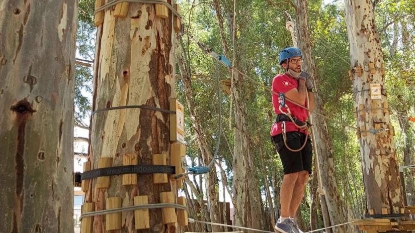 In Cacheuta, Mendoza, Argentina you can Arborismo en Bosque de Cacheuta with LATITUR