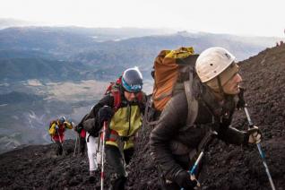 With LATITUR on Volcán Lanín you can make Ascenso al Lanín: tu primer gran montaña