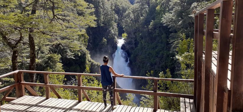 In Paso Hua-hum, Neuquén, Argentina you can Caminata Cascada Chachin por huella andina with LATITUR