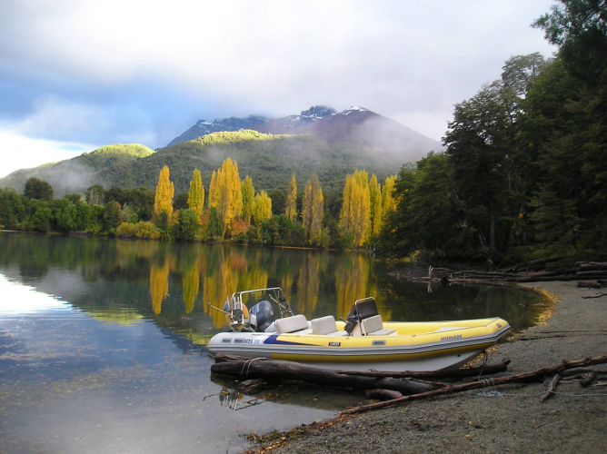 In Lago Hess, Río Negro, Argentina you can Pesca en Lago Hess with LATITUR