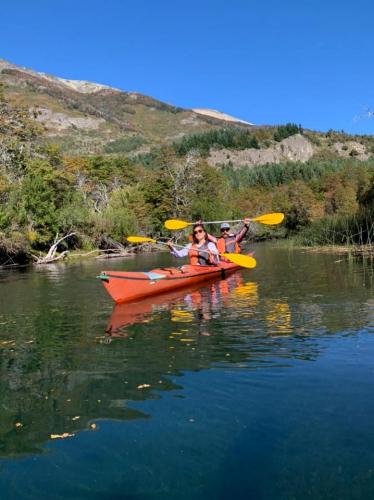 In Lago Machónico, Neuquén, Argentina you can Kayak en el Lago Machónico with LATITUR