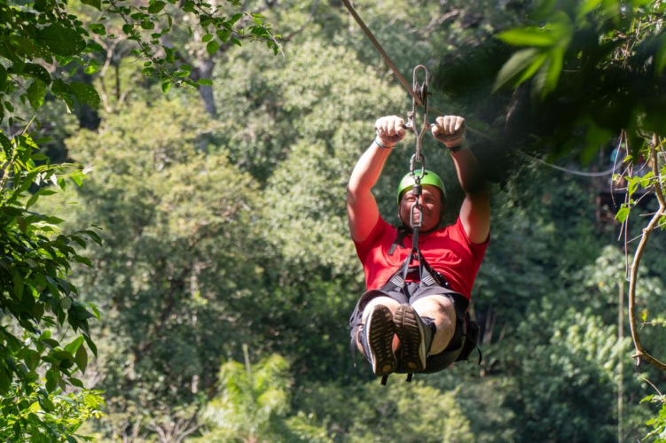 In Puerto Iguazú, Misiones, Argentina you can Jungle Fly Iguazú Aventura en la Selva with LATITUR