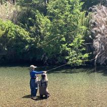 With LATITUR on Villa La Angostura, Neuquén, Argentina you can make Iniciación a la pesca con mosca de medio día