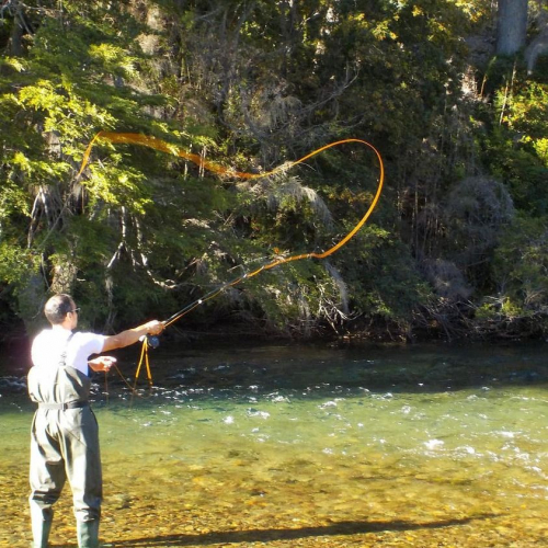 In Villa La Angostura, Neuquén, Argentina you can Iniciación a la pesca con mosca de medio día with LATITUR