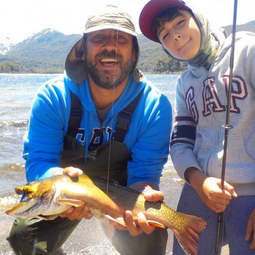 In Villa La Angostura, Neuquén, Argentina you can Flotada de pesca en bahía de lago with LATITUR