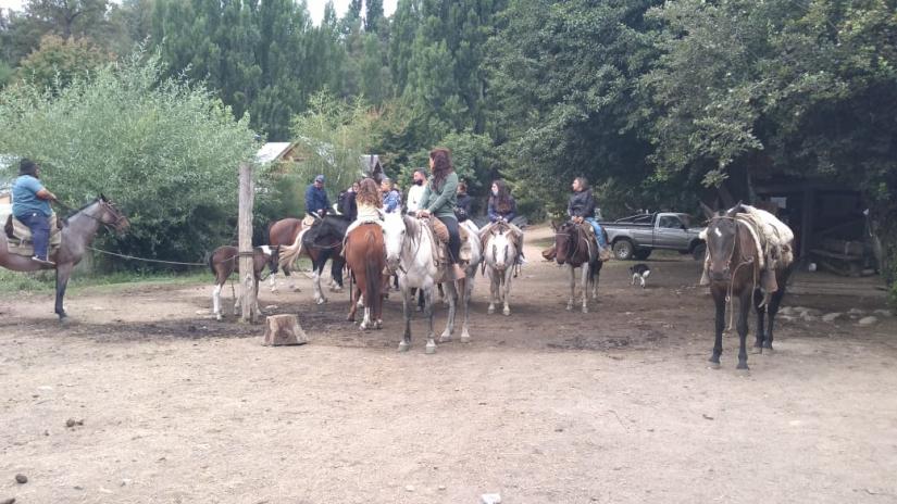 In Pasaje Trahunco Abajo, San Martin de los Andes, Neuquén, Argentina you can Cabalgata de Montaña - 2 horas with LATITUR
